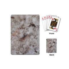 Down Comforter Feathers Goose Duck Feather Photography Playing Cards (Mini)