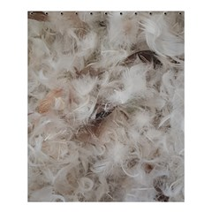 Down Comforter Feathers Goose Duck Feather Photography Shower Curtain 60  x 72  (Medium)