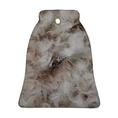 Down Comforter Feathers Goose Duck Feather Photography Bell Ornament (2 Sides)