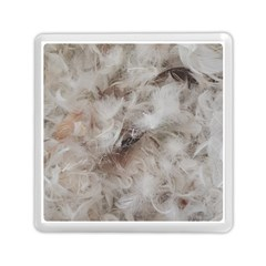 Down Comforter Feathers Goose Duck Feather Photography Memory Card Reader (Square)