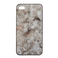 Down Comforter Feathers Goose Duck Feather Photography Apple iPhone 4/4s Seamless Case (Black)