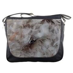 Down Comforter Feathers Goose Duck Feather Photography Messenger Bags