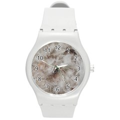 Down Comforter Feathers Goose Duck Feather Photography Round Plastic Sport Watch (M)