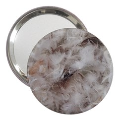 Down Comforter Feathers Goose Duck Feather Photography 3  Handbag Mirrors