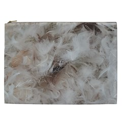 Down Comforter Feathers Goose Duck Feather Photography Cosmetic Bag (XXL)