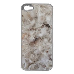 Down Comforter Feathers Goose Duck Feather Photography Apple iPhone 5 Case (Silver)