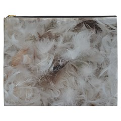 Down Comforter Feathers Goose Duck Feather Photography Cosmetic Bag (XXXL)