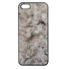 Down Comforter Feathers Goose Duck Feather Photography Apple iPhone 5 Seamless Case (Black)