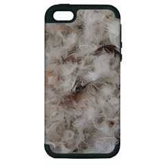 Down Comforter Feathers Goose Duck Feather Photography Apple iPhone 5 Hardshell Case (PC+Silicone)