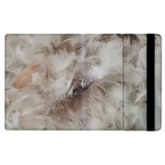 Down Comforter Feathers Goose Duck Feather Photography Apple iPad 2 Flip Case