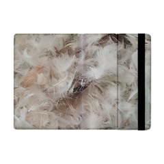 Down Comforter Feathers Goose Duck Feather Photography Apple iPad Mini Flip Case