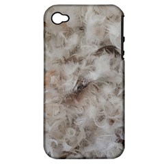 Down Comforter Feathers Goose Duck Feather Photography Apple iPhone 4/4S Hardshell Case (PC+Silicone)