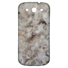 Down Comforter Feathers Goose Duck Feather Photography Samsung Galaxy S3 S III Classic Hardshell Back Case