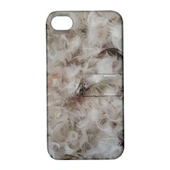 Down Comforter Feathers Goose Duck Feather Photography Apple iPhone 4/4S Hardshell Case with Stand