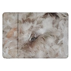 Down Comforter Feathers Goose Duck Feather Photography Samsung Galaxy Tab 8.9  P7300 Flip Case