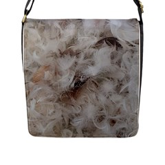 Down Comforter Feathers Goose Duck Feather Photography Flap Messenger Bag (L)