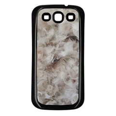 Down Comforter Feathers Goose Duck Feather Photography Samsung Galaxy S3 Back Case (Black)