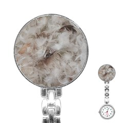 Down Comforter Feathers Goose Duck Feather Photography Stainless Steel Nurses Watch