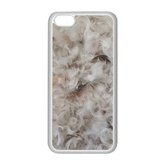 Down Comforter Feathers Goose Duck Feather Photography Apple iPhone 5C Seamless Case (White)