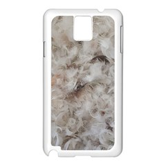 Down Comforter Feathers Goose Duck Feather Photography Samsung Galaxy Note 3 N9005 Case (White)