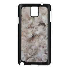 Down Comforter Feathers Goose Duck Feather Photography Samsung Galaxy Note 3 N9005 Case (Black)