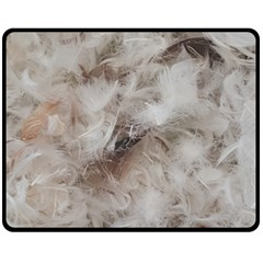 Down Comforter Feathers Goose Duck Feather Photography Double Sided Fleece Blanket (Medium)