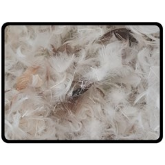 Down Comforter Feathers Goose Duck Feather Photography Double Sided Fleece Blanket (Large)