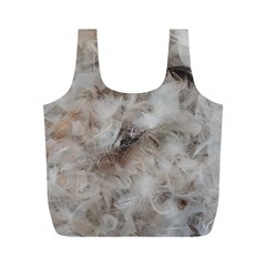 Down Comforter Feathers Goose Duck Feather Photography Full Print Recycle Bags (M)