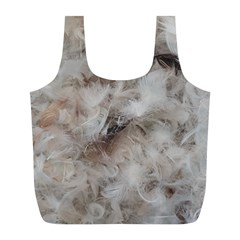 Down Comforter Feathers Goose Duck Feather Photography Full Print Recycle Bags (L)