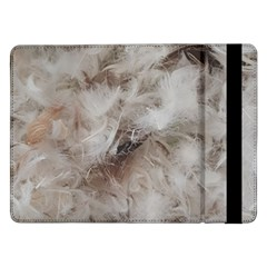 Down Comforter Feathers Goose Duck Feather Photography Samsung Galaxy Tab Pro 12.2  Flip Case