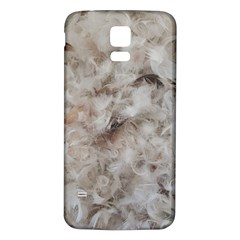 Down Comforter Feathers Goose Duck Feather Photography Samsung Galaxy S5 Back Case (White)
