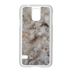 Down Comforter Feathers Goose Duck Feather Photography Samsung Galaxy S5 Case (White)