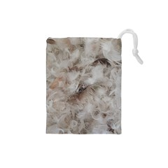 Down Comforter Feathers Goose Duck Feather Photography Drawstring Pouches (Small)