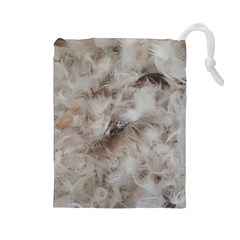 Down Comforter Feathers Goose Duck Feather Photography Drawstring Pouches (Large)