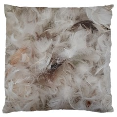 Down Comforter Feathers Goose Duck Feather Photography Large Flano Cushion Case (One Side)