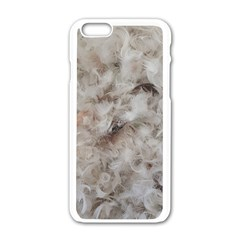 Down Comforter Feathers Goose Duck Feather Photography Apple iPhone 6/6S White Enamel Case