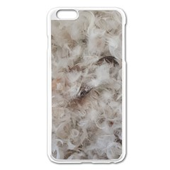 Down Comforter Feathers Goose Duck Feather Photography Apple iPhone 6 Plus/6S Plus Enamel White Case