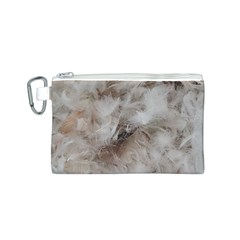 Down Comforter Feathers Goose Duck Feather Photography Canvas Cosmetic Bag (S)