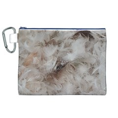 Down Comforter Feathers Goose Duck Feather Photography Canvas Cosmetic Bag (XL)