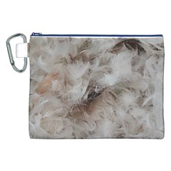 Down Comforter Feathers Goose Duck Feather Photography Canvas Cosmetic Bag (XXL)
