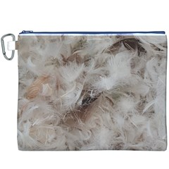 Down Comforter Feathers Goose Duck Feather Photography Canvas Cosmetic Bag (XXXL)