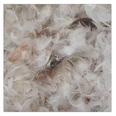 Down Comforter Feathers Goose Duck Feather Photography Large Satin Scarf (Square)