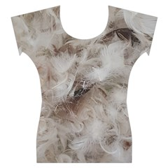 Down Comforter Feathers Goose Duck Feather Photography Women s Cap Sleeve Top