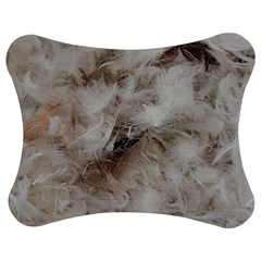 Down Comforter Feathers Goose Duck Feather Photography Jigsaw Puzzle Photo Stand (Bow)