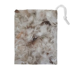 Down Comforter Feathers Goose Duck Feather Photography Drawstring Pouches (Extra Large)