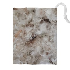 Down Comforter Feathers Goose Duck Feather Photography Drawstring Pouches (XXL)