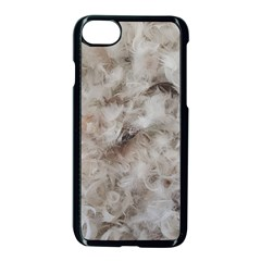 Down Comforter Feathers Goose Duck Feather Photography Apple Iphone 7 Seamless Case (black)