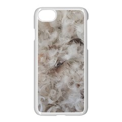 Down Comforter Feathers Goose Duck Feather Photography Apple iPhone 7 Seamless Case (White)