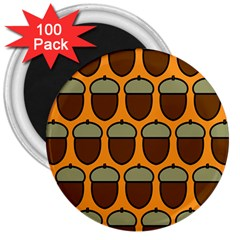 Acorn Orang 3  Magnets (100 pack)