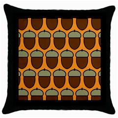 Acorn Orang Throw Pillow Case (Black)